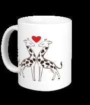 Кружка Влюбленные жирафы