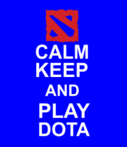 Детская футболка  Keep calm and play dota