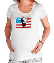 Футболка для беременных America! I love you!
