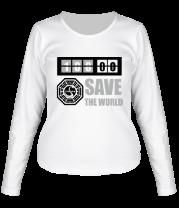 Женская футболка с длинным рукавом Save the world
