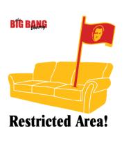 Мужская футболка  The Big Bang Theory. Restricted area!