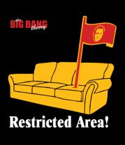Женская майка борцовка The Big Bang Theory. Restricted area!