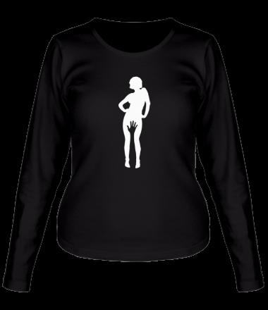 Женская футболка с длинным рукавом Девушка