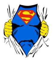 Женская футболка с длинным рукавом Смотри! Я Superman!