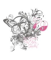 Шапка Бабочка и цветы