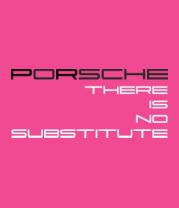 Женская футболка  Porsche - There is no substitute