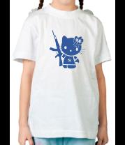 Детская футболка  Kitty Soldier
