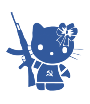 Мужская футболка с длинным рукавом Kitty Soldier