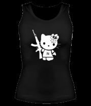 Женская майка борцовка Kitty Soldier