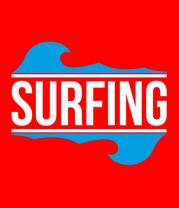Мужская футболка с длинным рукавом Surfing