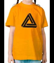 Детская футболка  Triangle Visual Illusion
