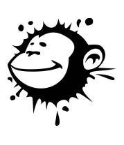 Женская футболка с длинным рукавом Monkey face