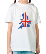 Детская футболка  Карта Англии