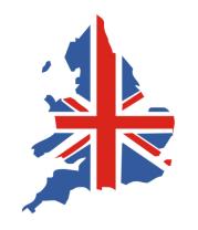 Футболка поло мужская Карта Англии