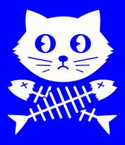 Женская футболка  Кот и  скелет рыбы
