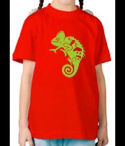 Детская футболка  хамелеон