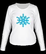 Женская футболка с длинным рукавом Остроугольная снежинка