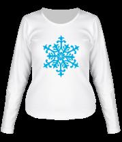 Женская футболка с длинным рукавом Узорная снежинка