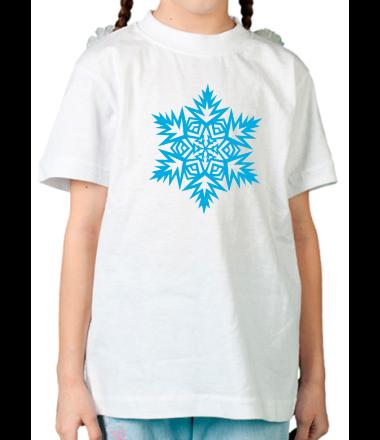 Детская футболка  Остроугольная снежинка