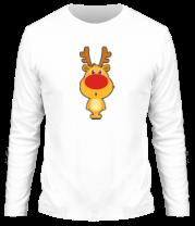 Мужская футболка с длинным рукавом Олень