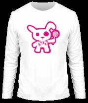 Мужская футболка с длинным рукавом Эмо-заяц