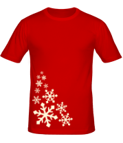 Мужская футболка  Светящиеся снежинки