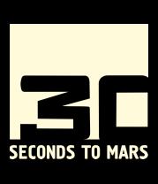 Мужская футболка  30 seconds to mars glow