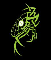 Толстовка без капюшона Змея - рисунок в стиле тату