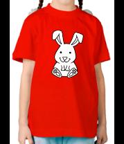 Детская футболка  Зайчик