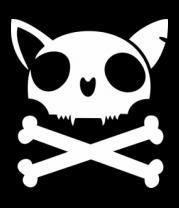 Мужская футболка  Кот - пиратский флаг