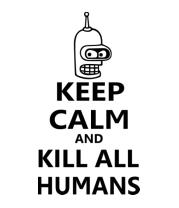 Мужская майка Keep calm and kill all humans