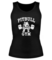 Женская майка борцовка Pitbull gym (для темных основ)