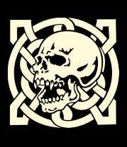 Толстовка Череп с кельтским узором (свет)