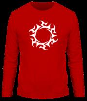 Мужская футболка с длинным рукавом Солнце узор