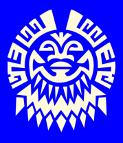 Мужская футболка с длинным рукавом Маска майя