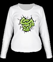 Женская футболка с длинным рукавом Кельтский рисунок с трещинами