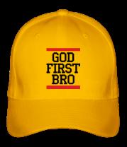 Бейсболка God first bro