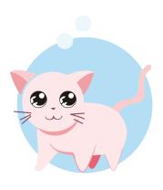 Мужская футболка с длинным рукавом Розовая кошка
