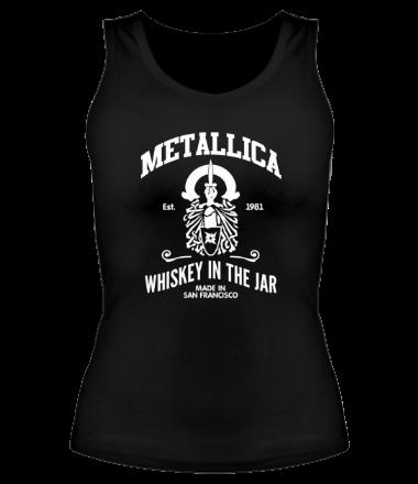 Женская майка борцовка Metallica Whiskey in the Jar