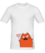 Мужская футболка  Кот с сердечками (мужская)