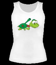 Женская майка борцовка Боевая черепаха