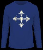 Мужская футболка с длинным рукавом Геральдический орнамент (свет)