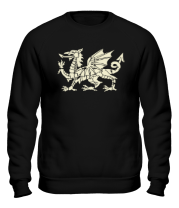 Толстовка без капюшона Мифический дракон (свет)