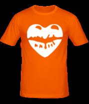 Мужская футболка  Поцелуй в виде сердца