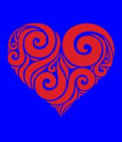 Мужская футболка  Сердце узор