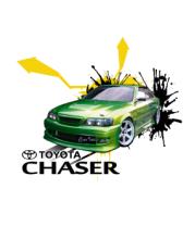 Женская футболка с длинным рукавом Toyota Chaser full color