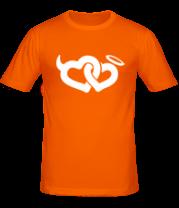 Мужская футболка  Два сердца