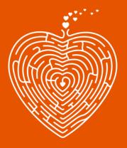 Мужская футболка  Сердце лабиринт