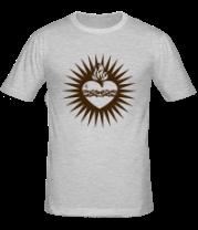 Мужская футболка  Пылающее сердце