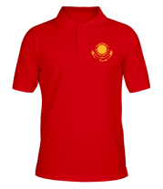 Футболка поло мужская Герб Казахстана
